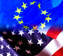 EU and US flags